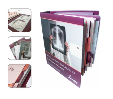 Presentation Binder with CD Pockets, Tabs, and Wire-bound Books